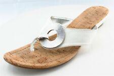 Alfani Size 9.5 M White Flip Flop Synthetic Women Sandal Shoes