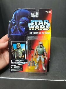Boba Fett Kenner Hasbro Star Wars Power of the Force Red Card 1995 Sealed