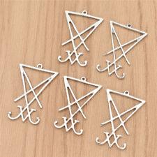 5pcs Silver Charm Lucifer's Sigil Pendants DIY Bracelet Necklace Making Jewelry