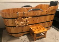 Cedar Wood Japanese Soaking Bathtub - Brand New