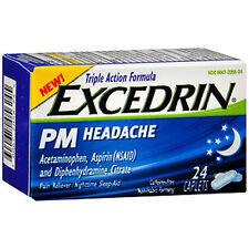 Excedrin PM Headache Pain Reliever Caplets - 24 Ea