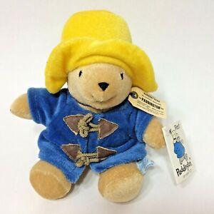 "Eden My First Paddington Bear 8"" Plush Stuffed Animal Blue Coat Yellow Hat"