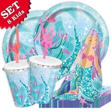 Meerjungfrau Deko-Set, 48-teilig zum Kindergeburtstag oder Mottopartys