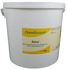 10kg Natron Natriumhydrogencarbonat Natriumbicarbonat E500i Backsoda NaHCO3