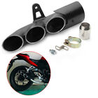 Universal Motorcycle Motorbike Three Outlet Tail Exhaust Pipe Muffler Silencers