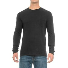 NEW Rainforest Heather Pocket Shirt Long Sleeve Black Men's M