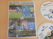 AFC WIMBLEDON 2012/3-2016/17 5 x DVD. 5 SEASONS ROUND UPS, FOOTBALL LEAGUE