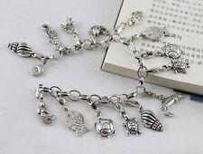Tibetan Silver Sea Animal Charm Bracelet E20019