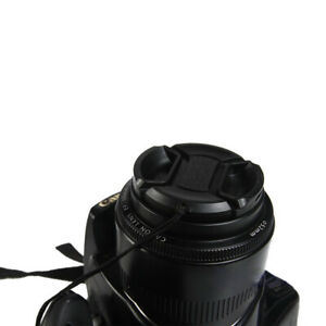 8Size Center Pinch Snap-On Cap Protector Cover For Nikon Canon Sony Camera Lens