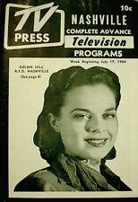 TV Guide 1954 Regional Goldie Hill RFD Nashville TV Press Magazine Lucille Ball