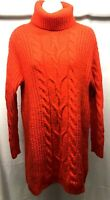 H&M S Turtleneck Sweater Dress Cable Knit Cozy Tunic Long Sleeve