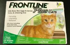 New Listing*Frontline Plus for Cats Flea and Tick Medicine Cat Feline 3 Month Supply Kitten