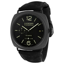 Panerai Radiomir 8 Days Black Dial Automatic Black Ceramica Mens Watch PAM00384