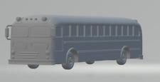 N scale 50's era school bus vehicle equipment 1:160 model railroad unpainted