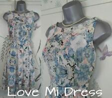 Gorgeous - 40's Style Flower Print Fit N Flare Tea Dress Sz 10 EU38