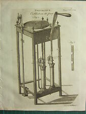 1797 GEORGIAN PRINT ~ PNEUMATICS CUTHBERTSON'S AIR PUMP APPARATUS