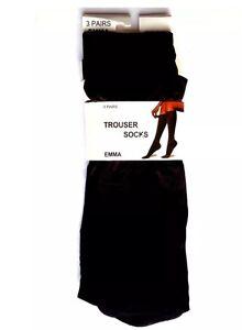 3 Pairs Ladies/Women 80 Denier Knee High Trouser POP Socks - Fine Quality Socks
