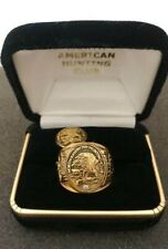 North American Hunting Club - Official Member Ring Size 10 & Pin - Gold Plated.