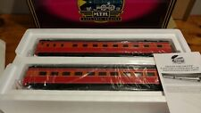 MTH 20-6623. Southern Pacific 2 Car 70' Streamlined ABS Sleeper/Diner. NIOB. '99