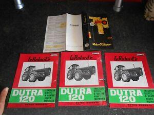 Ancien Feuillet Tracteur Agricole Le Robuste Dutra 120 & Dépliant Zetor 50 super