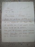 1927 171)AUTOGRAFO CRITICO MUSICALE CESARE PAGLIA (GAIANUS) DA BUDRIO DI BOLOGNA
