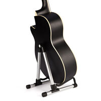 New Professional Musician's Gear A-Frame Electric Guitar Cello Stand Sliver