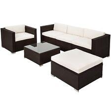 Luxury rattan garden furniture sofa set outdoor wicker brown