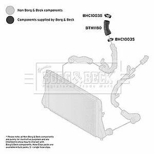 CAPSautomotive Charger Air Hose for Volkswagen 1K0145838 1K0145838AH 1K0145838AF