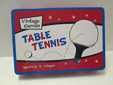 Table Tennis Vintage Games, New in Metal Box