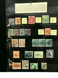 PERU POSTAGE STAMPS --1896, 1909, 1927, 1937 + MORE -- HARD TO FIND!