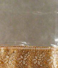 Ans Dinning table cover,transperent sheet six sitter Golden border