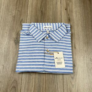 PETER MILLAR Crown Sport Comfort Striped Performance Polo Shirt Size S Small NWT