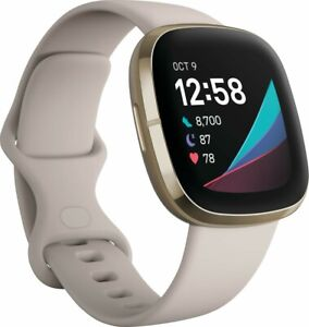 Fitbit Sense Advanced Health & Fitness Smartwatch Soft Gold FB512GLWT/NEW SEALED