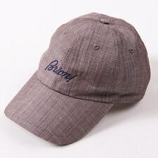 NWT $495 BRIONI Brown Linen Baseball Cap Hat with Logo Detail L (58cm)
