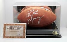 """Peyton Manning Autographed """"The Duke"""" Ball 2/1000 Celebrity Sports Authenticity"""