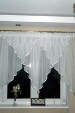 Ready Made Window Curtain Voile Net Curtain 145 X 300 Cm White Ag15 Art Deco