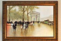 OUTSTANDING ORIGINAL Oil Painting~Arc D'Triomphe Andre Gisson~His Finest Work