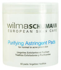 Wilma Schumann Purifying Astringent Pads 60 Pads Normal Acne Skin Fresh New