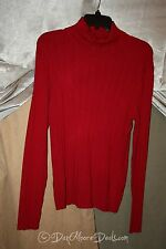 NEW Womens Szie L TurtleNeck Sweater Long Sleeve RED NWT by Peck & Peck