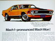 1970 FORD MUSTANG MACH 1 ORIGINAL AD*351/428 COBRA JET v8/GT/steering wheel/hood