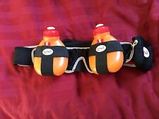 FuelBelt Revenge 2-Bottle Hydration Belt Black Orange Bottles MD Medium