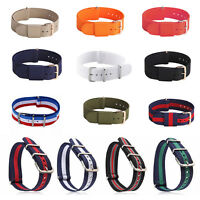 Infantry Military Army Mental Buckle Nylon Wrist Watch Band Strap Easy to Use:
