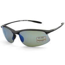 Serengeti Maestrale 8696 Satin Black/Blue Mirror Unisex Sports Sunglasses