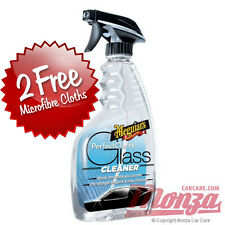 Meguiars Car Window / Windscreen Glass Cleaner **PLUS 2x FREE POLISHING CLOTHS**