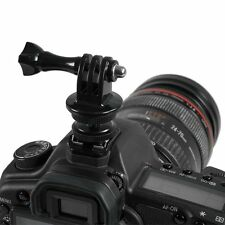 Flash Hot Shoe To 1/4 Tripod Screw Adapter W/ Three Prong Mount Fr Action