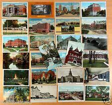 26 vintage Postcards ALL Lansing Michigan MI 1907-1938 Hotels Hospital College