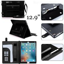 "12.9"" Case for Apple iPad Pro Tablet Protective Leather Cover Stylus Black NEW"