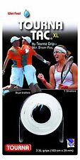 Tourna Tac XL - White - 3 Pack Overgrip Overgrips Tennis