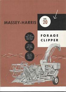 Massey Harris Tractor No.20 Forage Clipper Dealers Sales Brochure