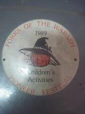 FORKS OF THE WABASH PIONEER FESTIVAL CHILDRENS ACTIVITIES PINBACK BUTTON